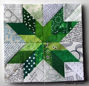 lonely star quilt block