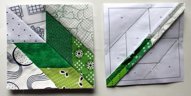 quilt block pieces