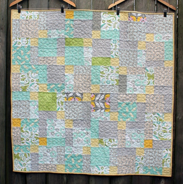 low volume charity quilt