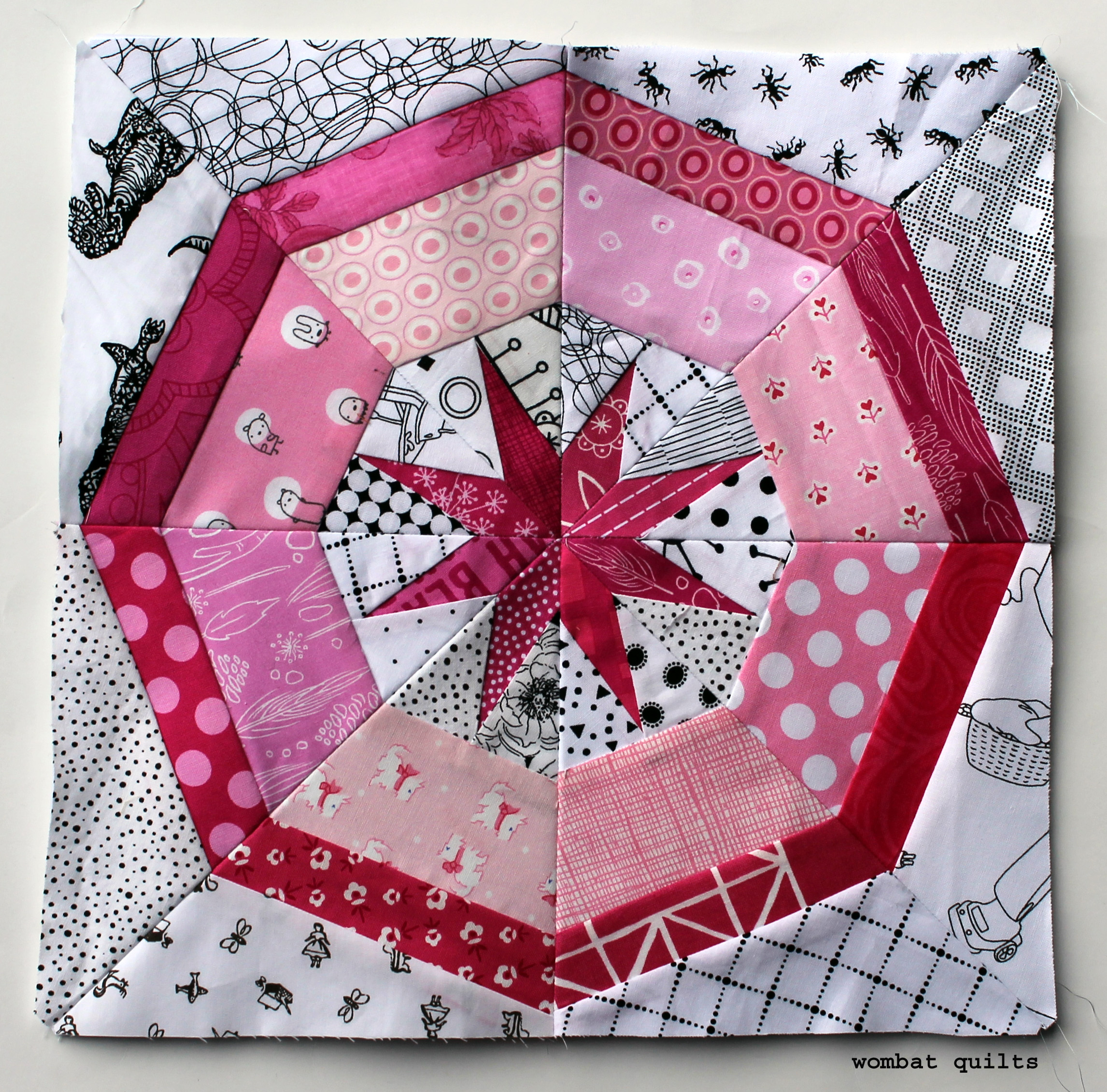 Free Paper Piecing Patterns Quilt Blocks : free foundation piecing pattern WOMBAT QUILTS