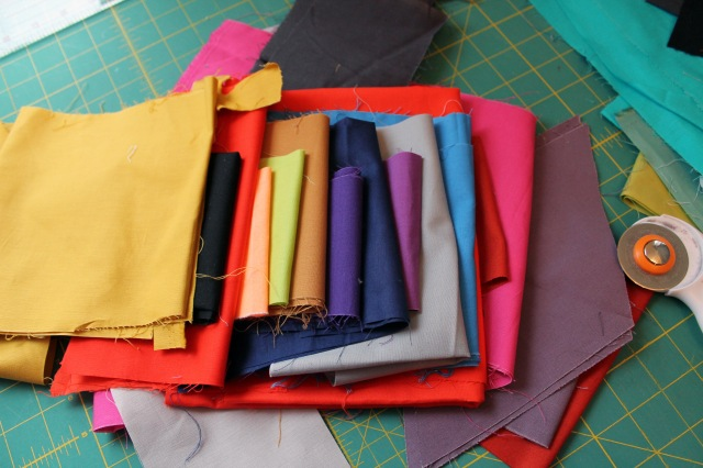 solid fabric scraps