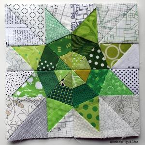 modern scrap star quilt block