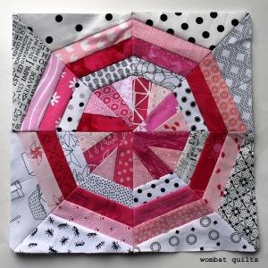 pinwheel snowball quilt block