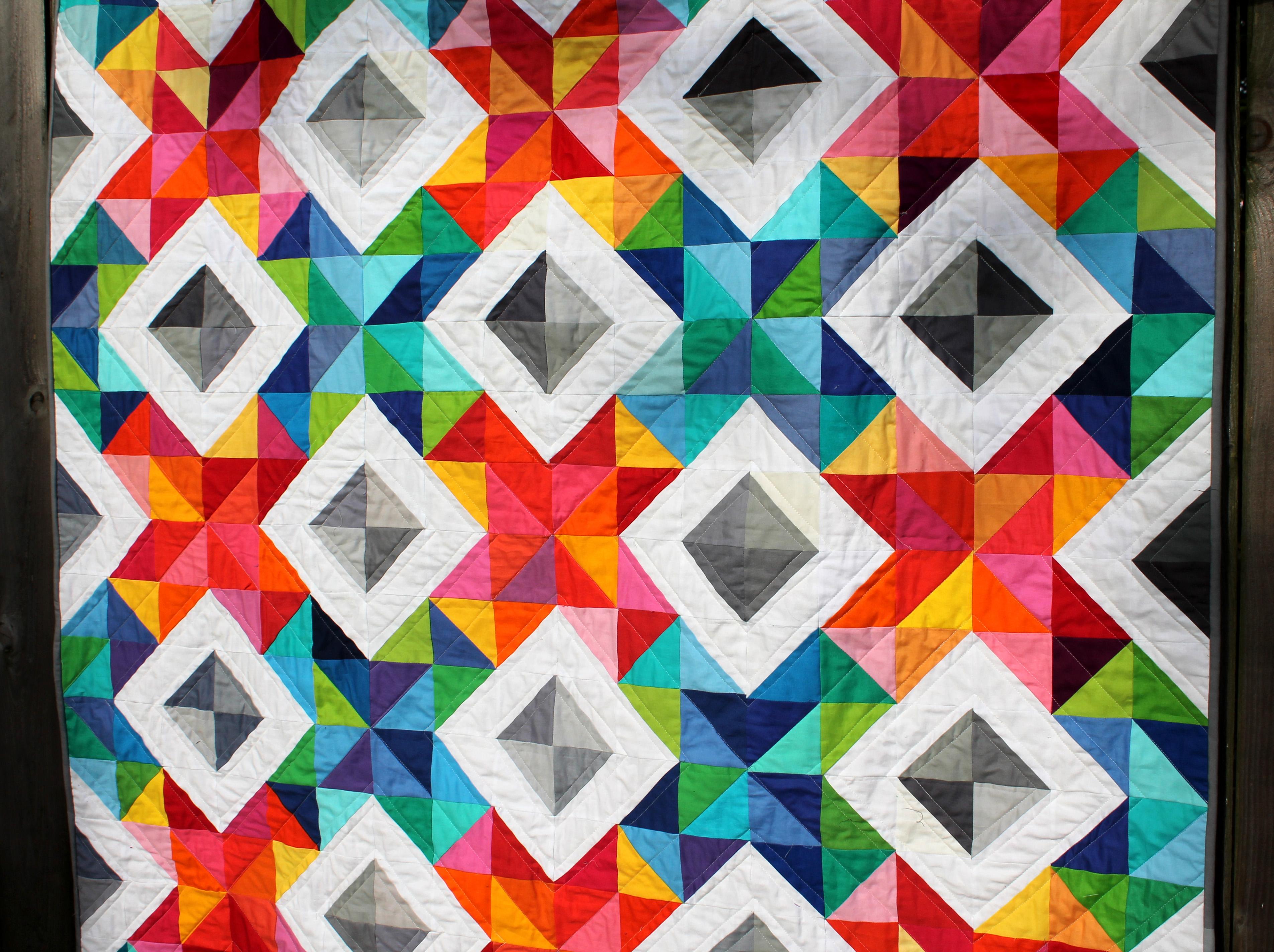 x stitch sparkle quilt detail