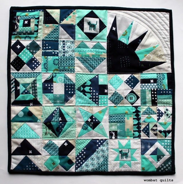 cotton and steel sampler mini quilt copy