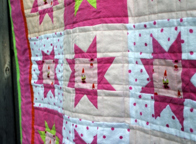 gnome quilt detail