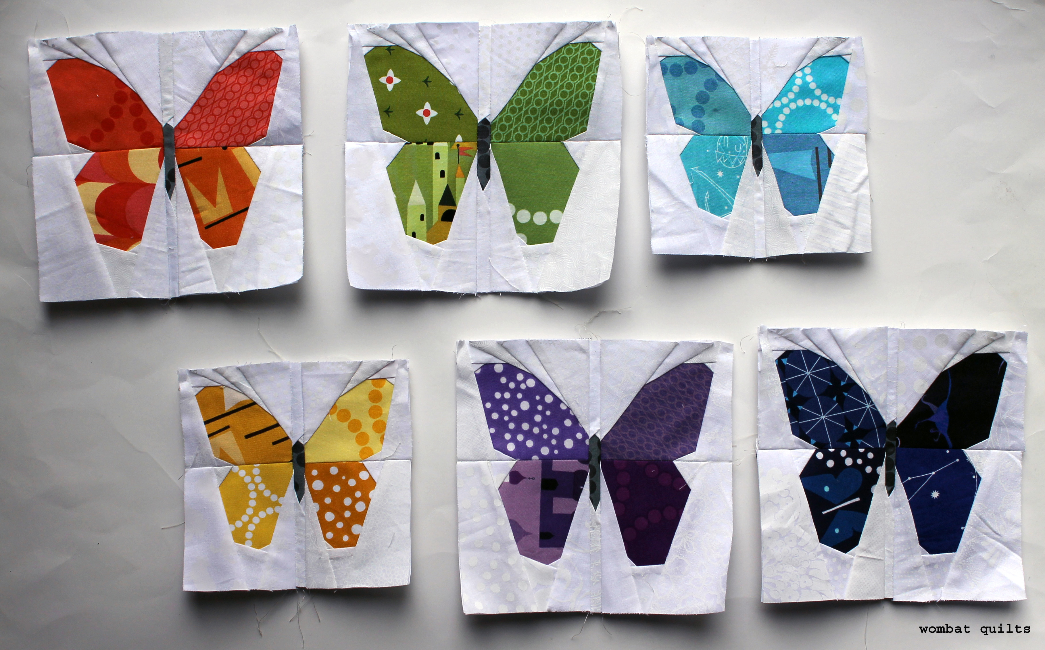 butterfly quilt block | WOMBAT QUILTS : butterfly quilt block pattern - Adamdwight.com