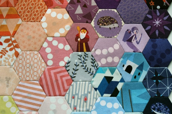 Lizzy House hexagon close up