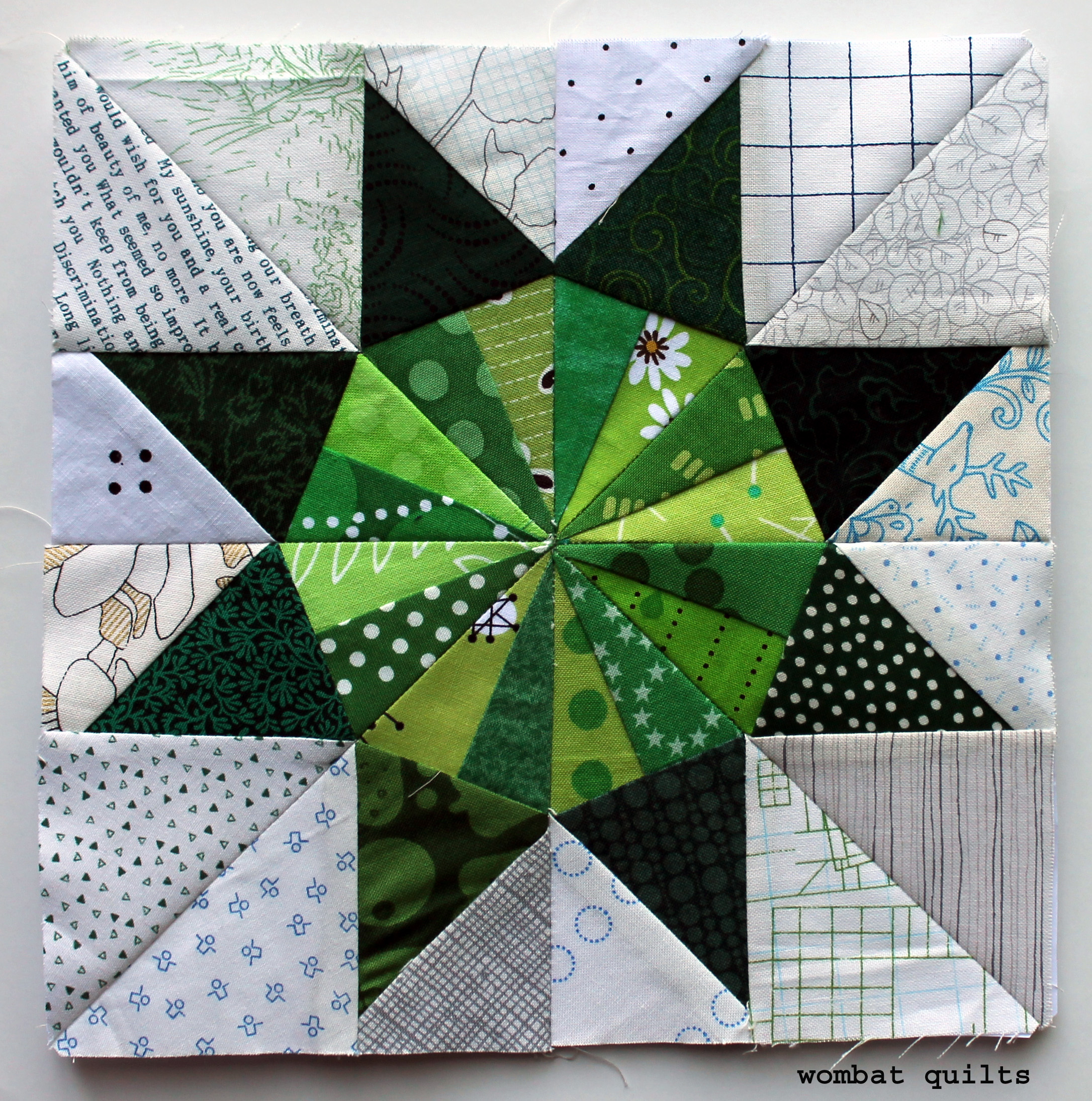 photo relating to Free Printable Paper Piecing Patterns for Quilting called Totally free Paper Piecing Practices WOMBAT QUILTS