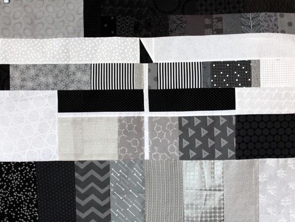 WQ grey card quilt