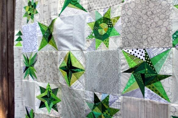 green star quilt detail