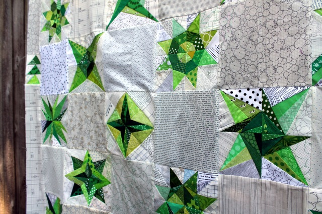 green star quilt detail