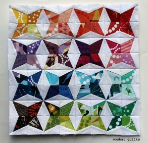 Kaleidoscope mini quilt