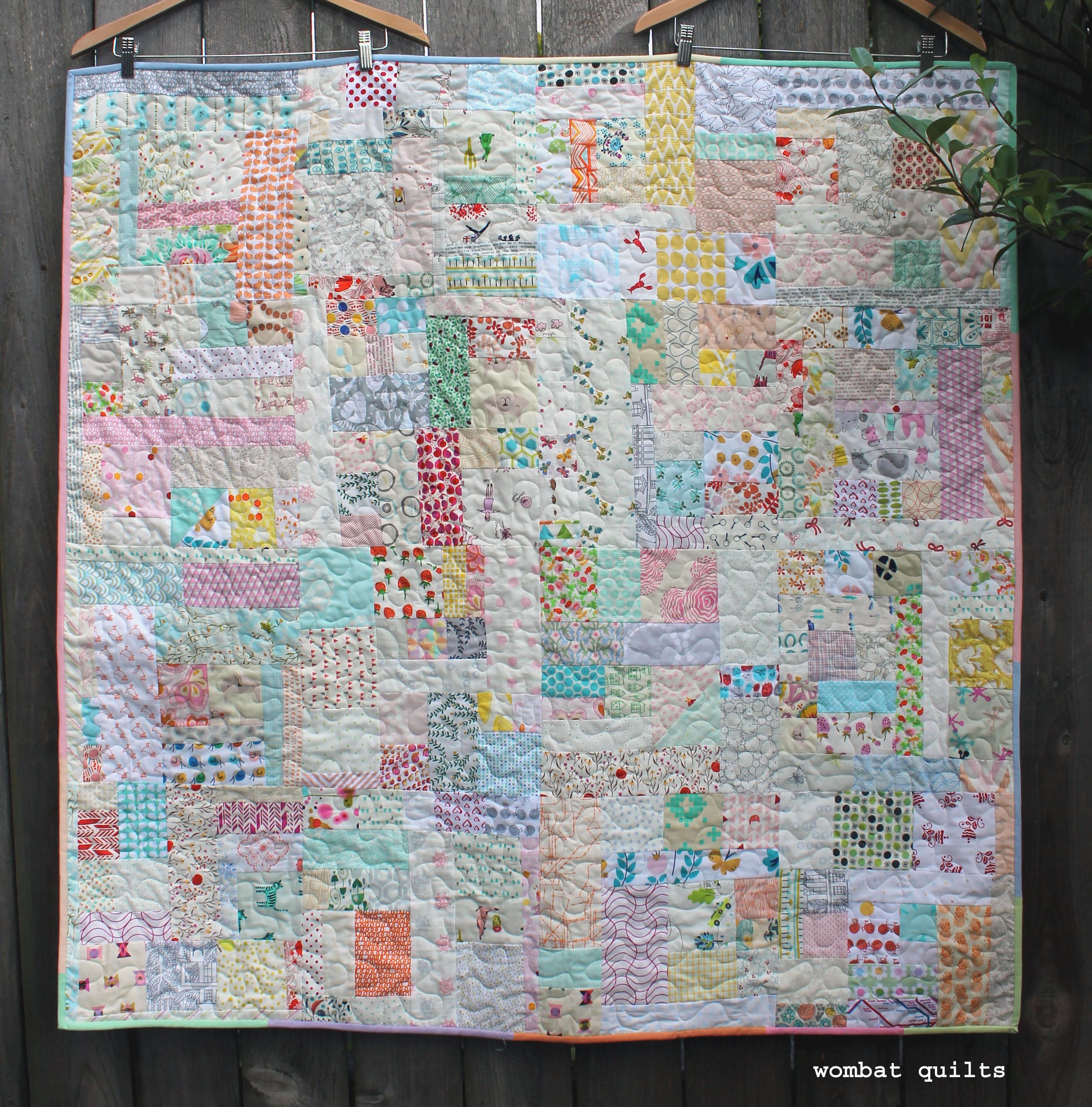 Scrap vortex quilt wombat quilts for Scrap quilt