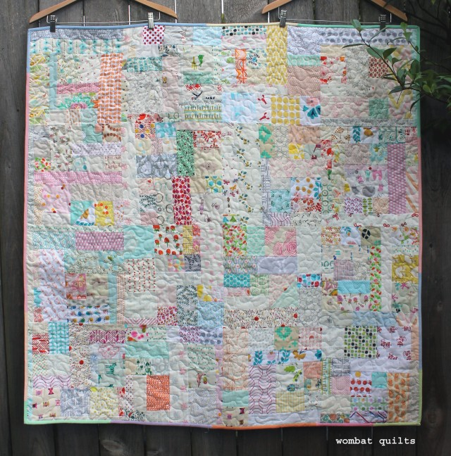 finished scrap vortex quilt