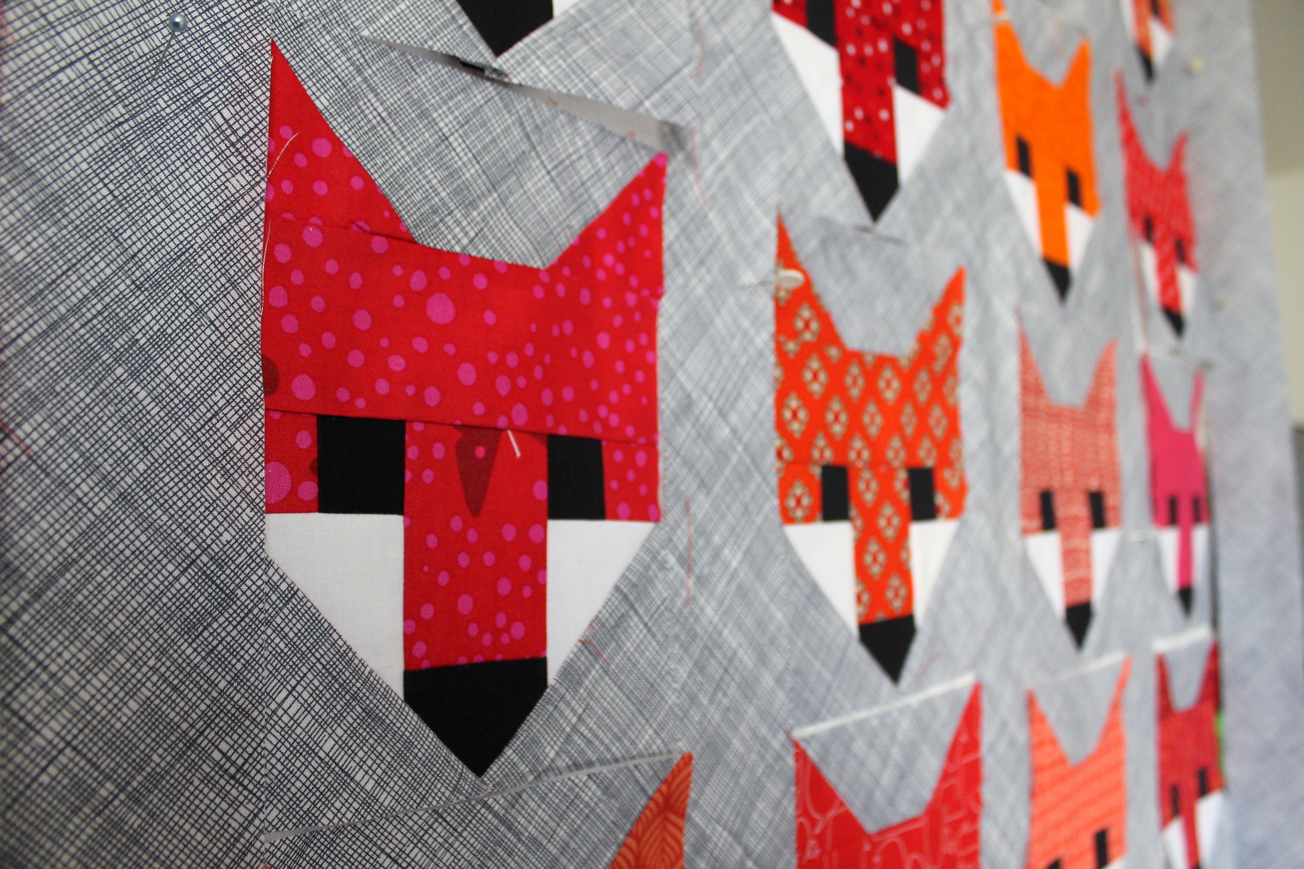 fancy fox quilt wombat quilts