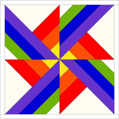 simple pinwheel block