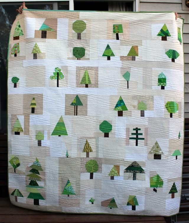 wonky tree quilt