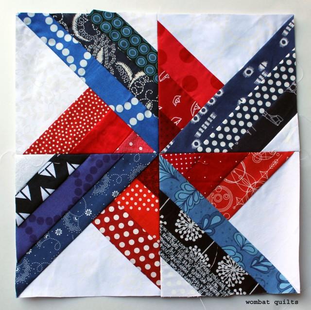 WQ simple pinwheel block