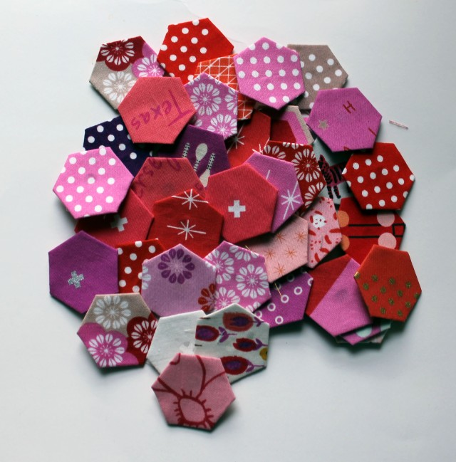 cotton and steel hexagons