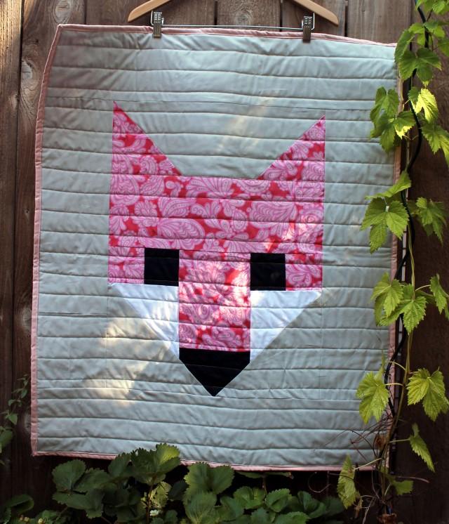 pink fox quilt