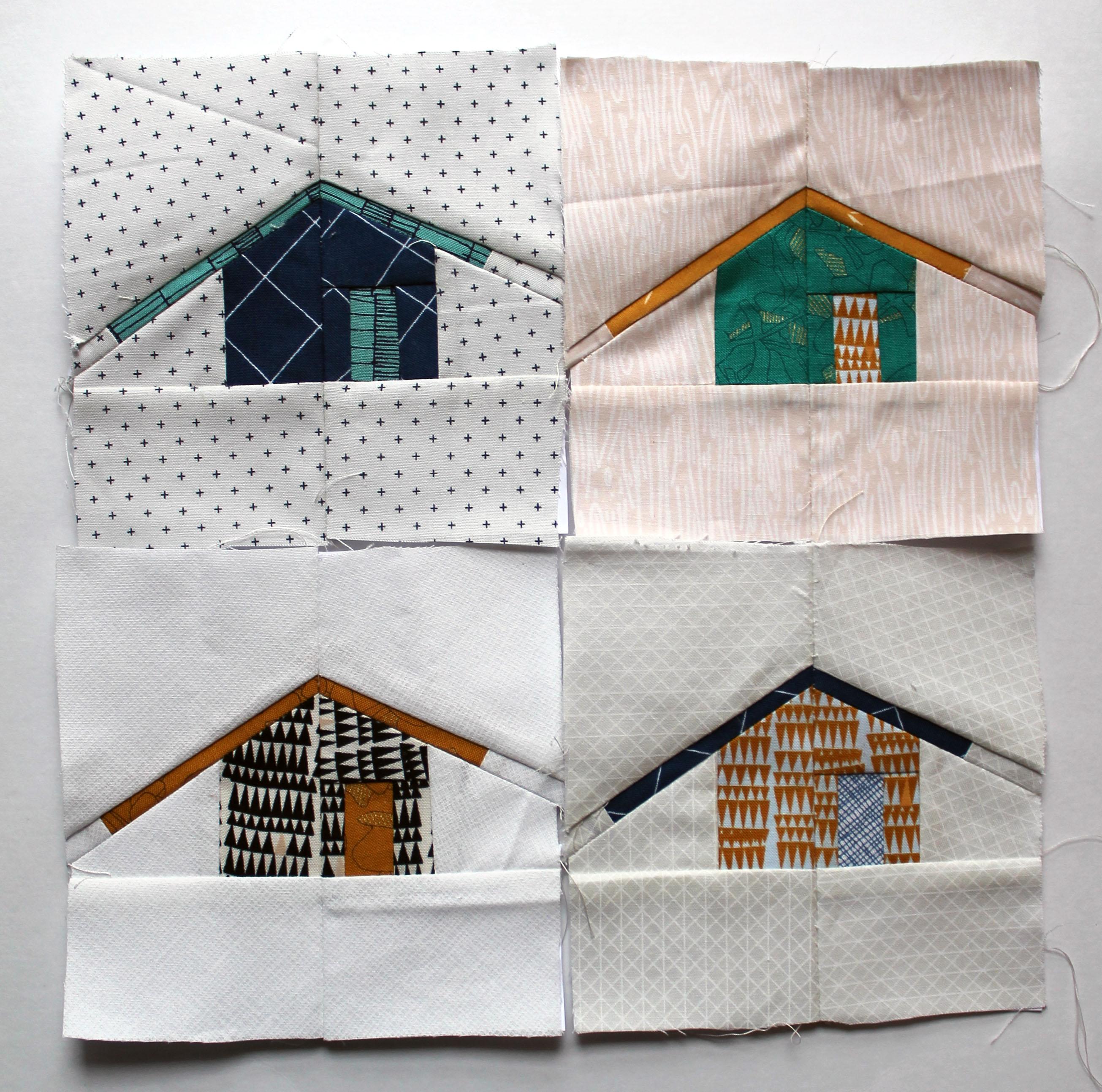 Quilt Block Patterns Of Houses : house quilt block WOMBAT QUILTS