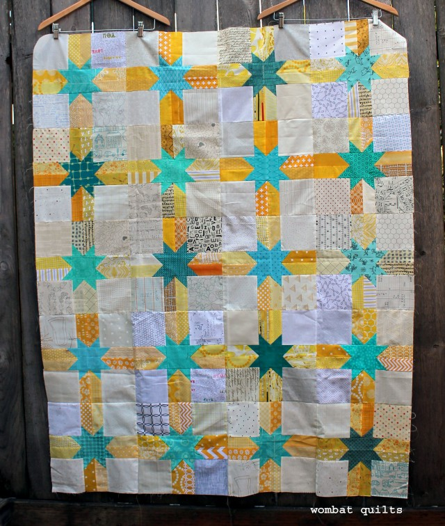 Do Good Stitches scrappy star quilt