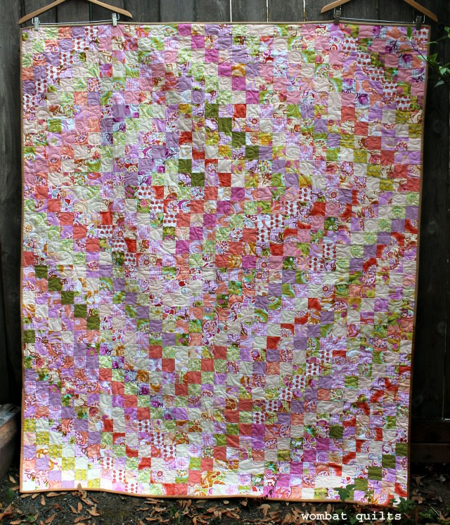finished Trip Around quilt