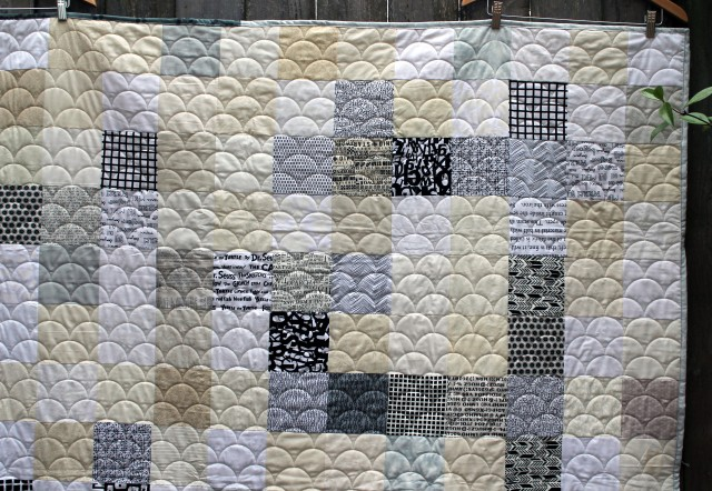 crossword quilt detail