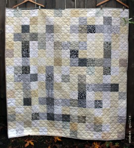finished crossword quilt