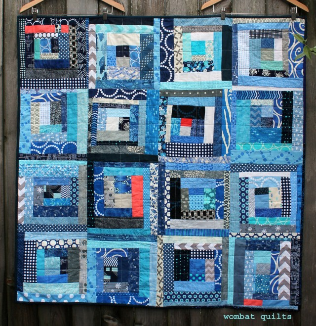 wonky log cabin finished quilt copy