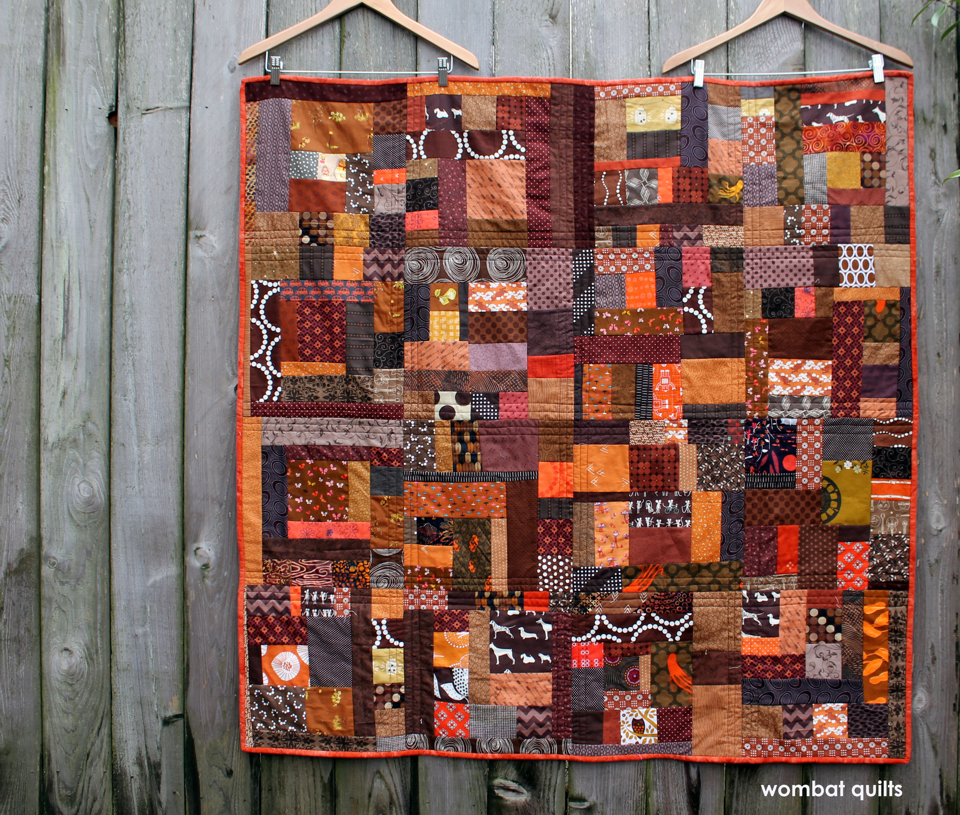 Brown Improv quilt