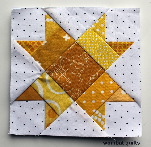 6 inch paper pieced star block