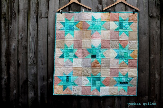 finished aqua baby quilt copy