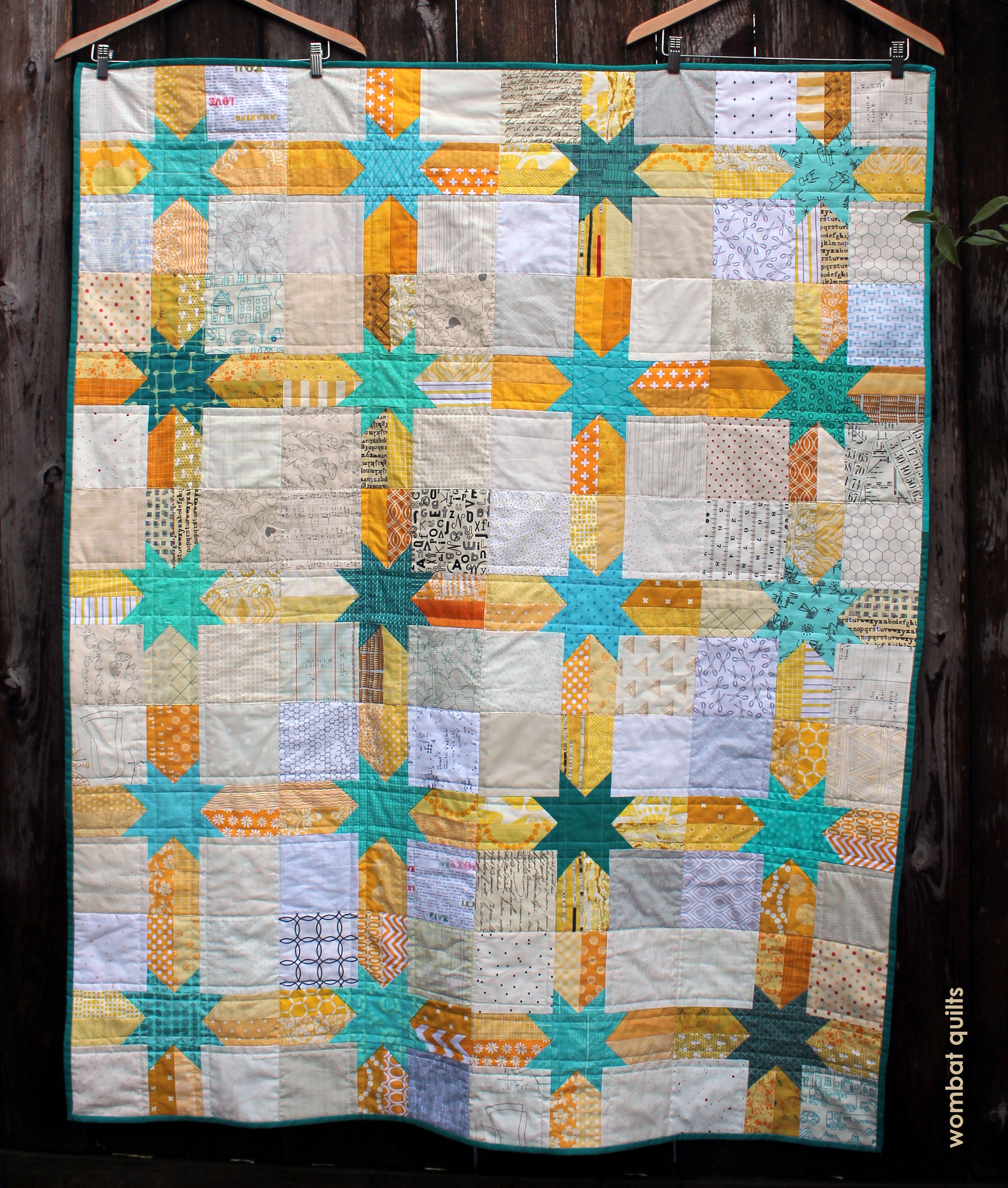 finished DG star quilt