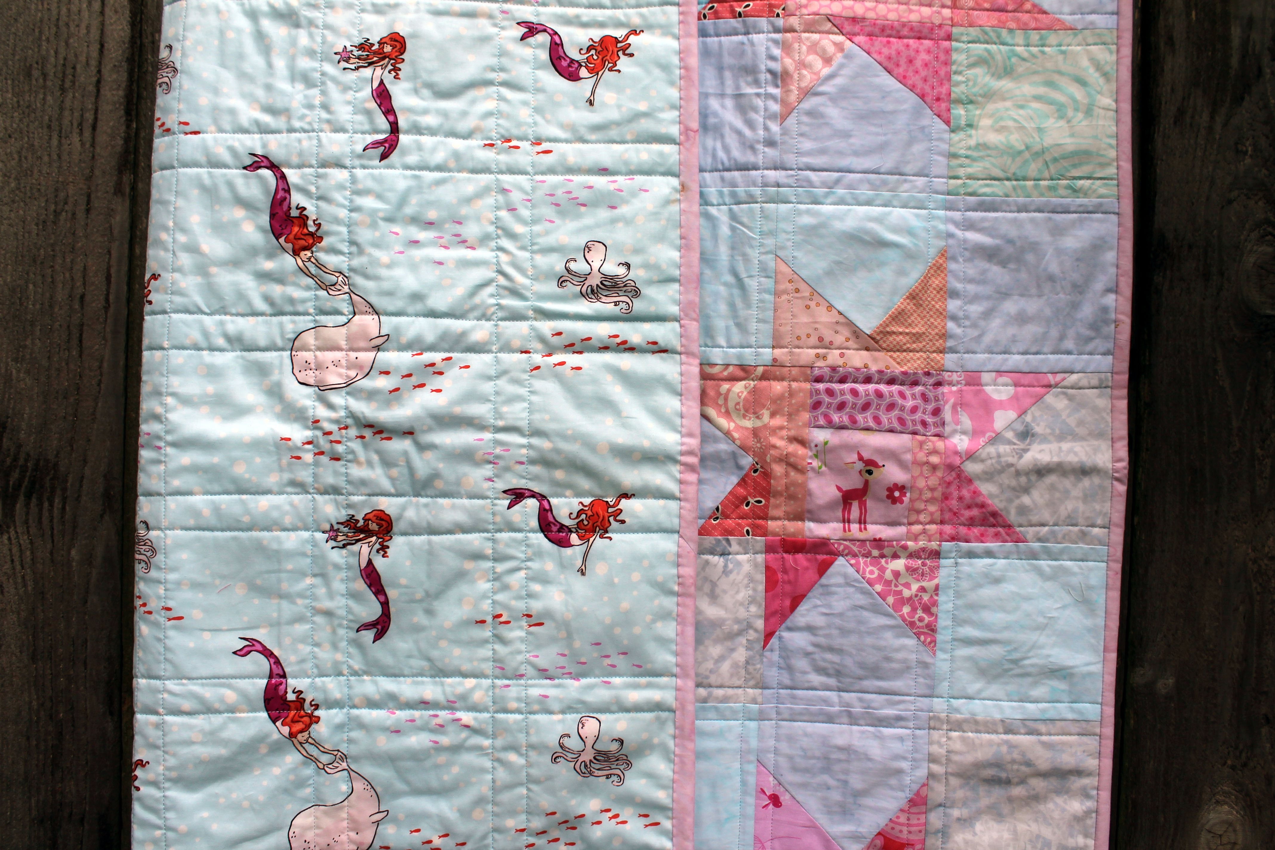 Everybody loves a wonky star…right….   WOMBAT QUILTS : backing material for quilts - Adamdwight.com