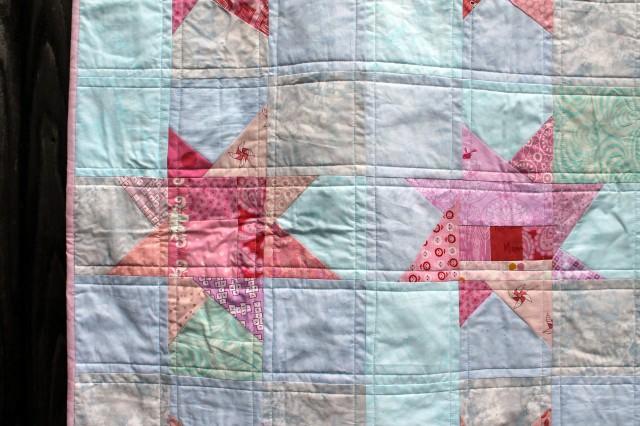 pink quilt detail