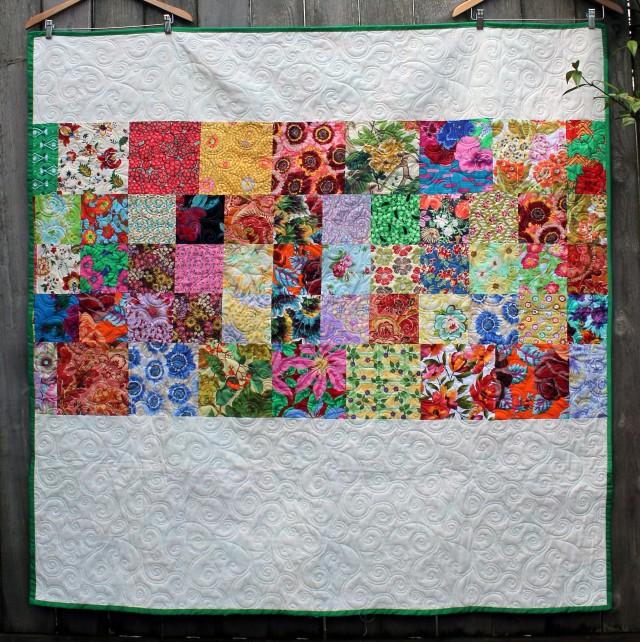 flower garden quilt back