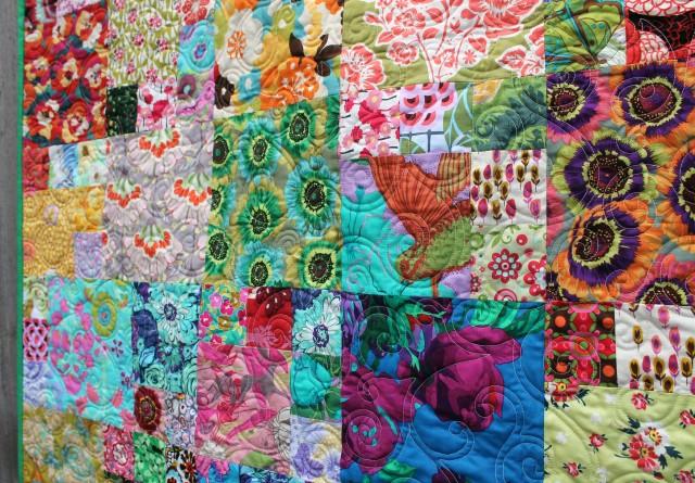flower garden quilt detail 3