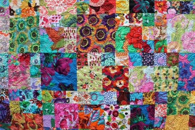 flower garden quilt detail