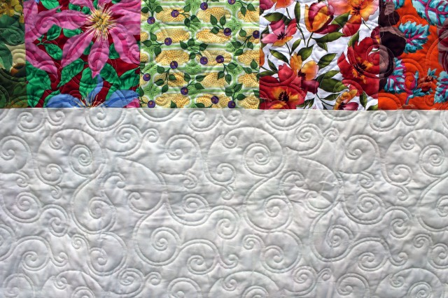 flower garden quilting detail