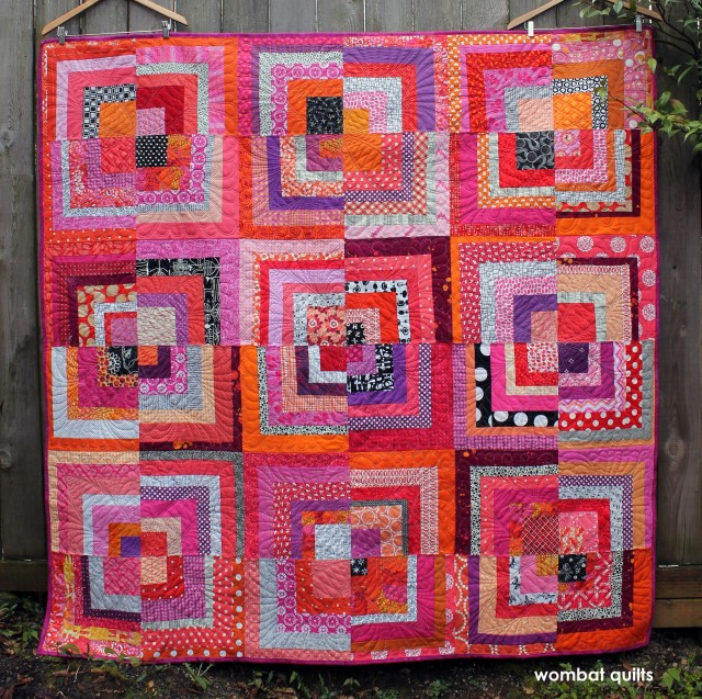 log cabin quilt | WOMBAT QUILTS