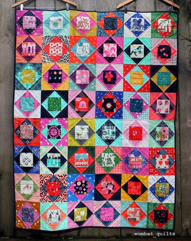 cotton steel economy block quilt