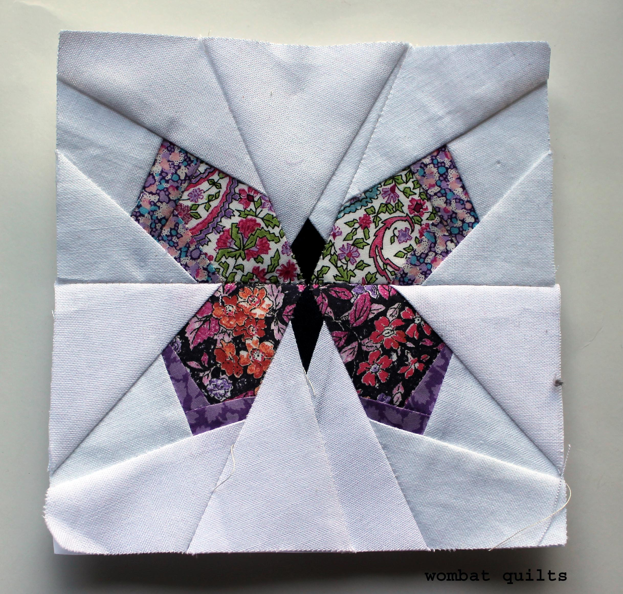 photograph about Free Printable Paper Piecing Patterns for Quilting known as Totally free Paper Piecing Types WOMBAT QUILTS