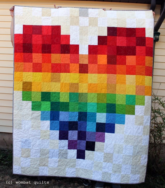 finished group quilt for pulse