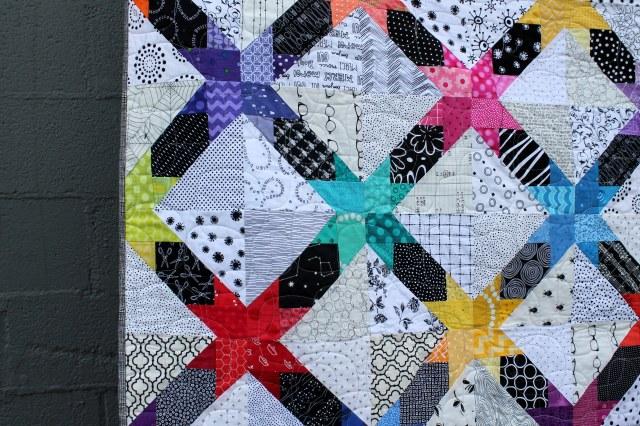 cross star quilt detail 2