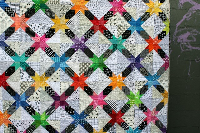 cross star quilt detail