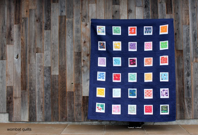 finished polaroid quilt