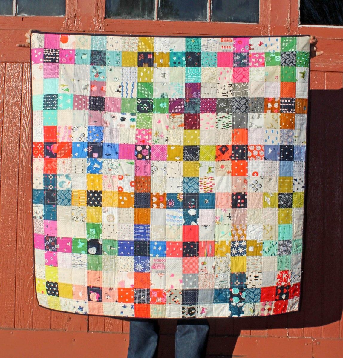 Modern scrap quilt
