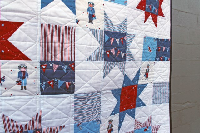 aviation quilt detail